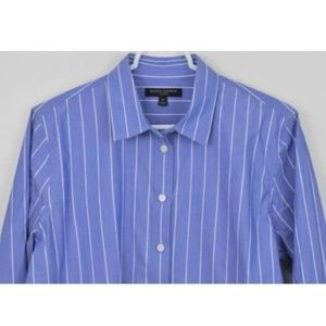 Banana Republic Medium Striped Button Up Parker